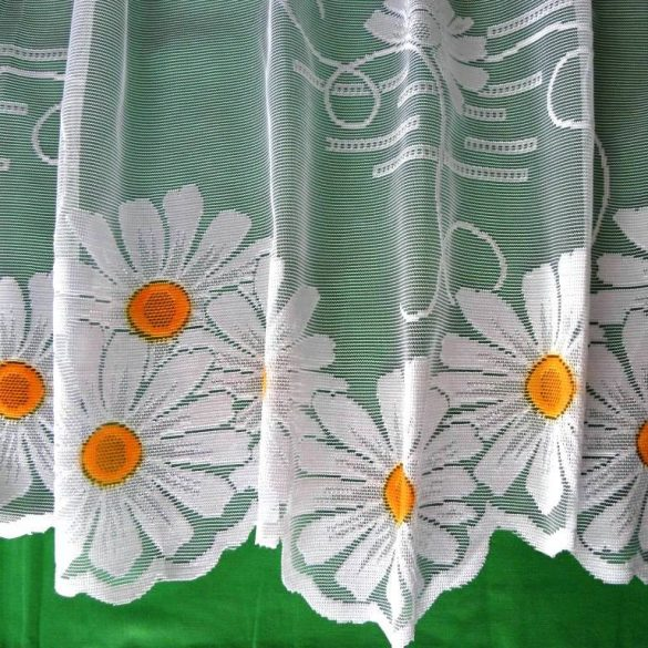 MARGARÉTA, jacquard csipke függöny anyag, bordűrös mintával, 260 cm magas