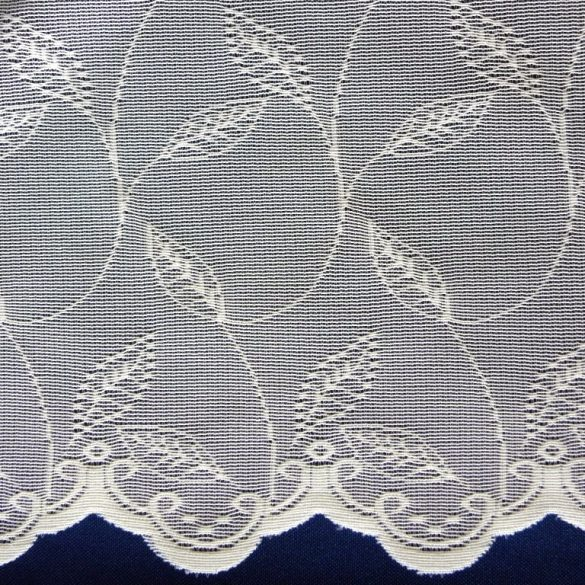 Jacquard csipke függöny anyag, modern leveles mintával