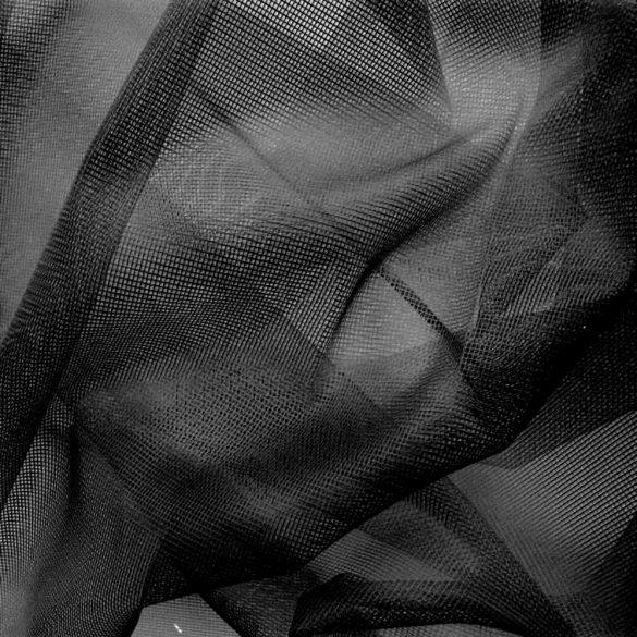Jacquard, fekete, necc függönyanyag, szúnyogháló