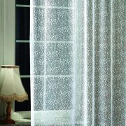 Jacquard csipke függöny anyag, egyszerű, szórt mintával, 330  cm magas