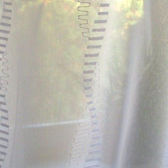 Colorado, fehér, hímzett, sablé függöny anyag, maradék darab: 1,2 m