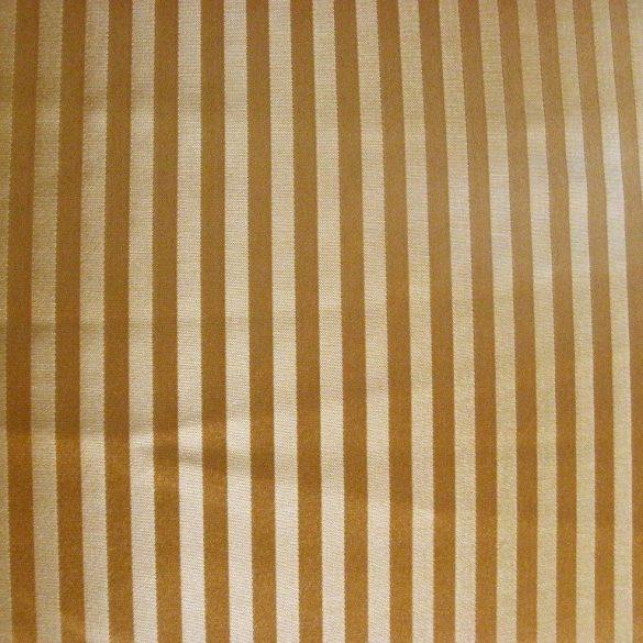 TIBOLD, egyszerű csíkos mintás, arany dekorfüggöny anyag, 145 cm széles