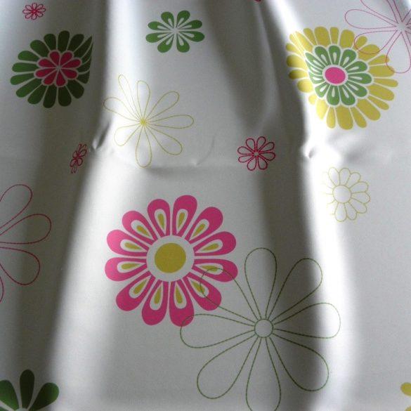 Dimout Dominika, virág mintás sötétítő függöny, rosa - maradék darab: 1,85 m