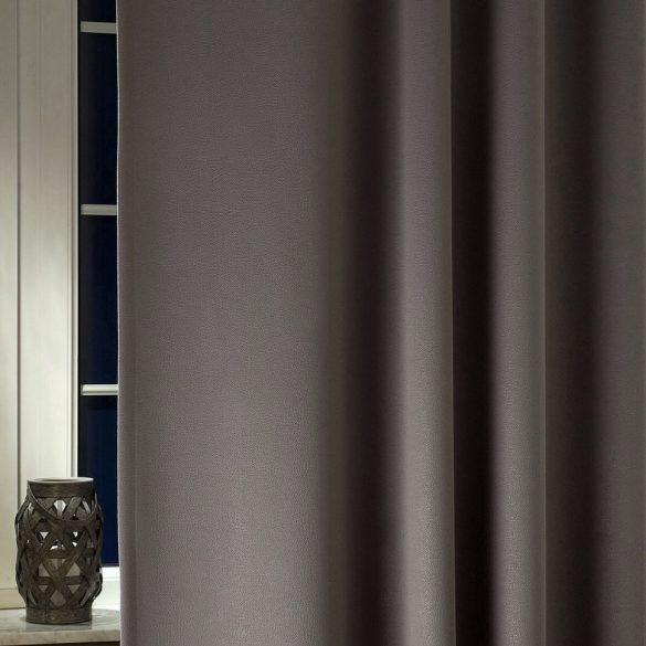 Triton, bőrhatású, kalanderezett dimout függöny, 44 antracit