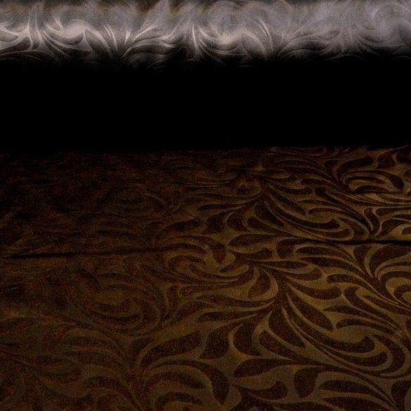 HELÉNA, klasszikus mintás, fémes fényű dimout függöny, barna