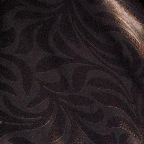 HELÉNA, klasszikus mintás, fémes fényű dimout függönyanyag, barna