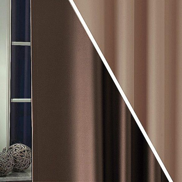 PIERROT, kétoldalas uni dimout sötétítő függöny, 08 nugát-cappuccino - maradék darab: 0,75 m