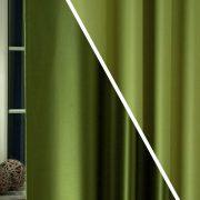 Pierrot, kétoldalas uni dimout sötétítő függöny, oliva-zöld