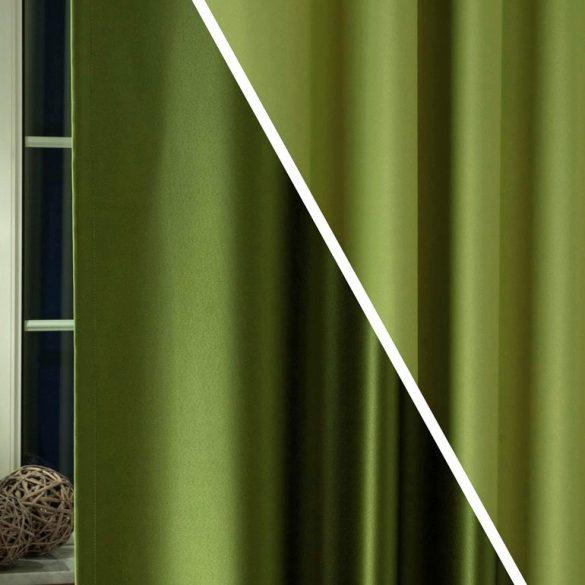 PIERROT, kétoldalas uni dimout sötétítő függöny, 13 oliva-zöld