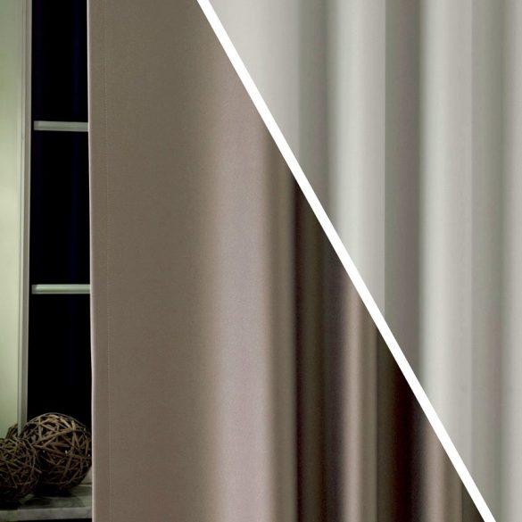PIERROT, kétoldalas uni dimout sötétítő függöny, 42 acélszürke-ezüst