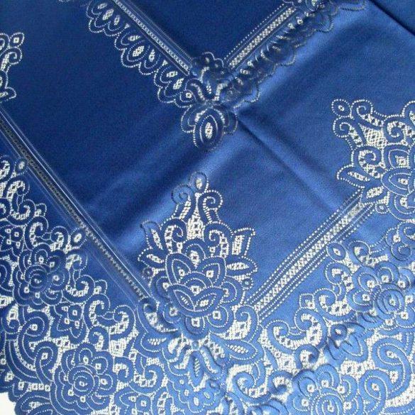 Jacquard csipke terítő, extra nagy méret, kék