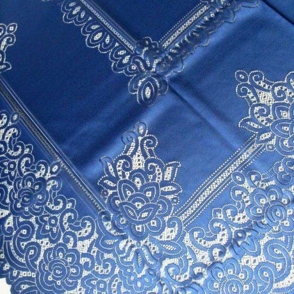 Jacquard csipke terítő, kék