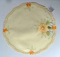 Húsvéti, tavaszi díszterítő Arabella, krémsárga, 30 cm kör