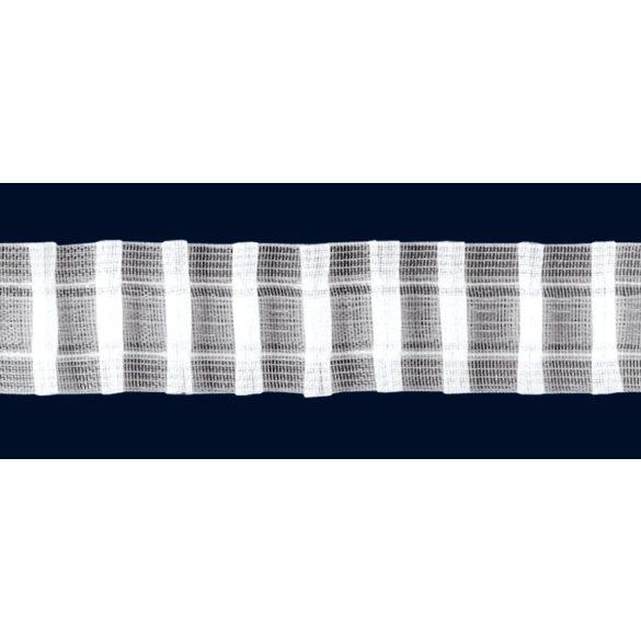 Sínszalag, függönyráncoló, ceruzás 35 mm, átlátszó, 1:2