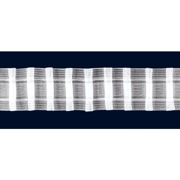 Sínszalag, függönyráncoló, ceruzás 35 mm, átlátszó, 1:2 - maradék darabok