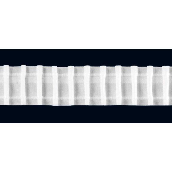 Sínszalag, függönyráncoló, ceruzás 35 mm, fehér, 1:2