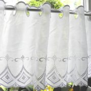 GARAM fehér hímzett batiszt vitrázsfüggöny