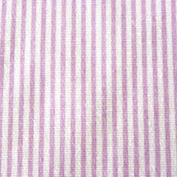 Linea, halványlila, vékonycsíkos lakástextil, dekorvászon