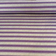 Line, lila-natúr duplacsíkos lakástextil, dekorvászon