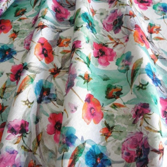 Poppy, akvarell pipacs mintás lakástextil dekorvászon