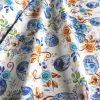 Spanyol lakástextil, Cornwall, rózsás, kék-korall