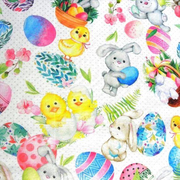 NYUSZI ÉS CSIBI, húsvéti lakástextil dekorvászon