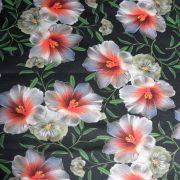 HIBISZKUSZ, virágmintás lakástextil dekorvászon