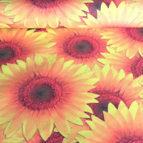 SUNNY, nagy napraforgó mintás lakástextil dekorvászon