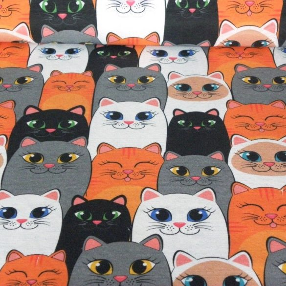 CAT TEAM, cicás lakástextil, dekorvászon