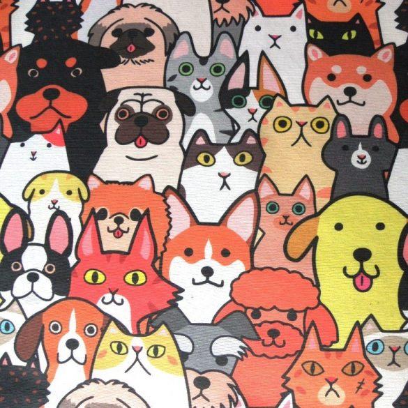 PET TEAM, kutyás, cicás lakástextil, dekorvászon