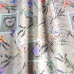 Spanyol lakástextil - márványos, uni lila