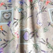 Spanyol lakástextil - márványos, uni lila, maradék darab: 0,20 m