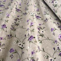 Lakástextil, MAXY, lenhatású, rózsamintás, lila