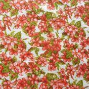 ELENI, krém-narancs kis virágos lakástextil, dekorvászon