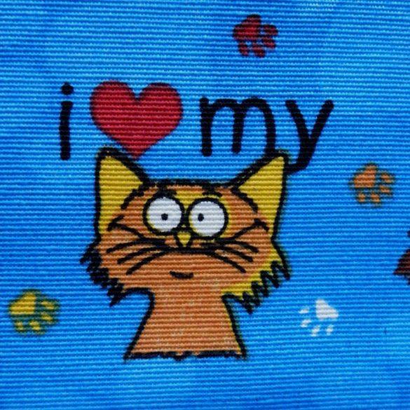 PET, kutya, cica mintás, spanyol lakástextil, dekorvászon