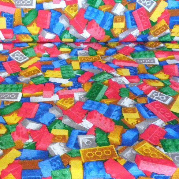 LEGO mintás, spanyol lakástextil, dekorvászon