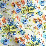 Akvarell Miranda kék spanyol lakástextil, dekorvászon