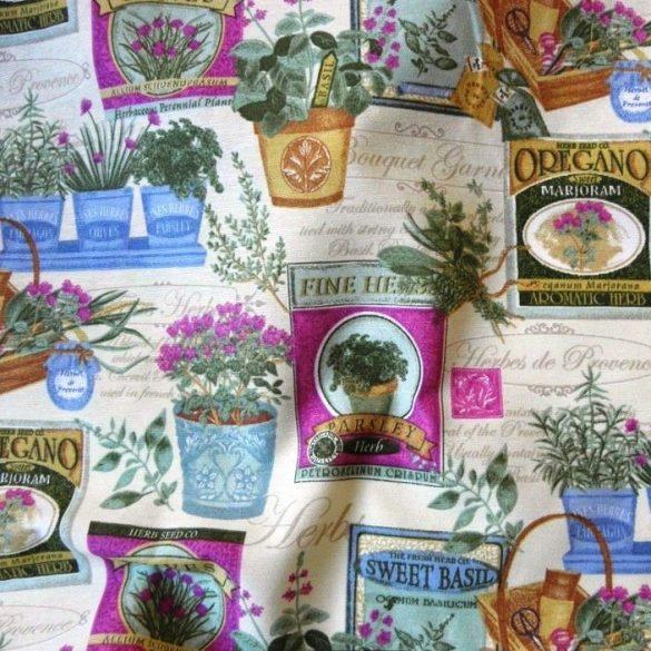 BOTANIC, spanyol lakástextil, dekorvászon, lila