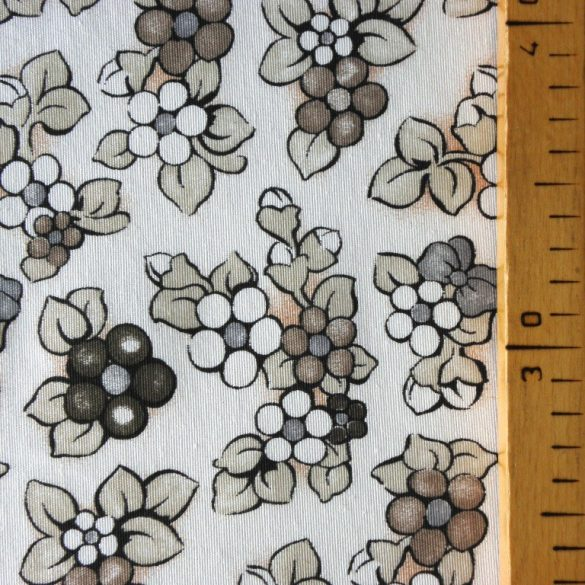 BOGI, barna virág mintás lakástextil dekorvászon