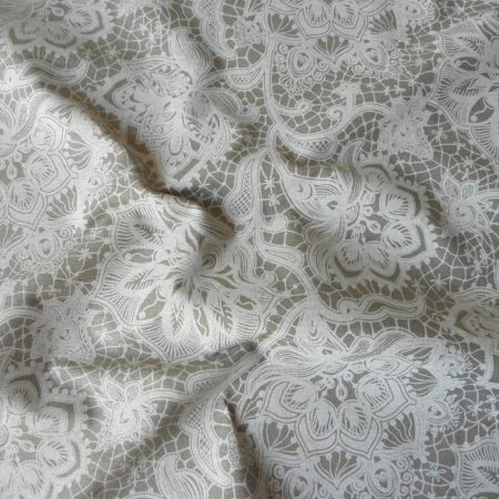Spanyol lakástextil, lenes, csipkemintás, duchesse