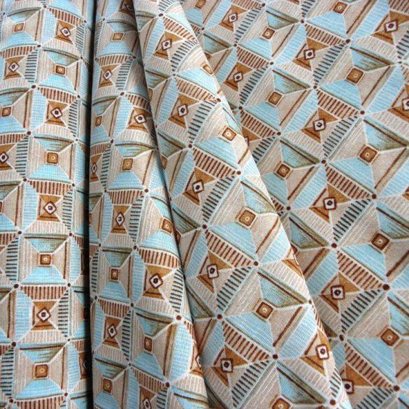 SCOY, négyzetes mintás lakástextil, dekorvászon, vízkék