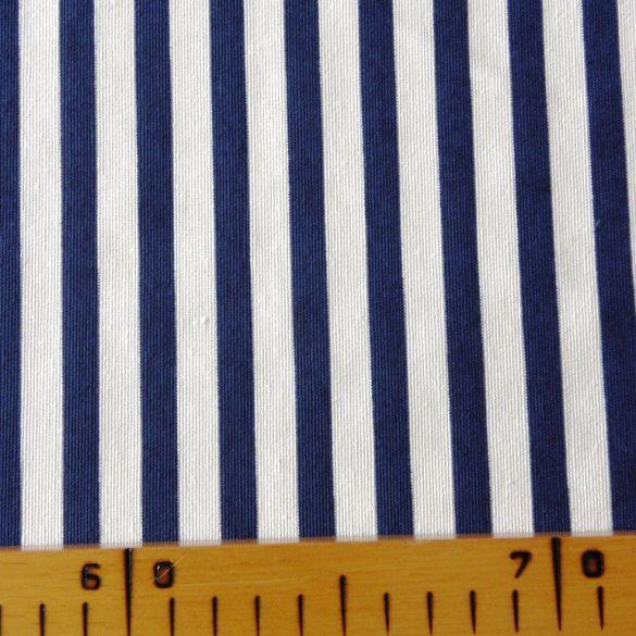 RAJAS, kék csíkos mintás lakástextil dekorvászon