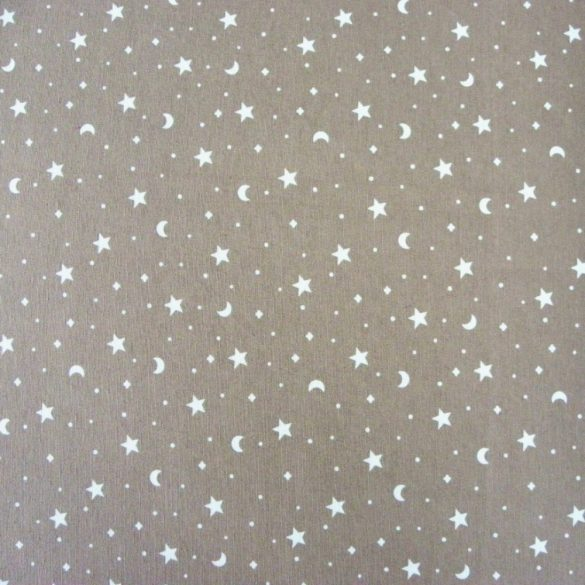 KIDDY drapp csillagos-holdas lakástextil, dekorvászon