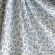 KIDDY kék kisvirágos lakástextil, dekorvászon