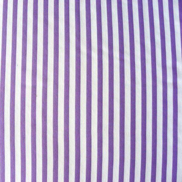 KIDDY lila csíkos lakástextil, dekorvászon