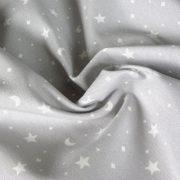 KIDDY szürke csillagos-holdas lakástextil, dekorvászon