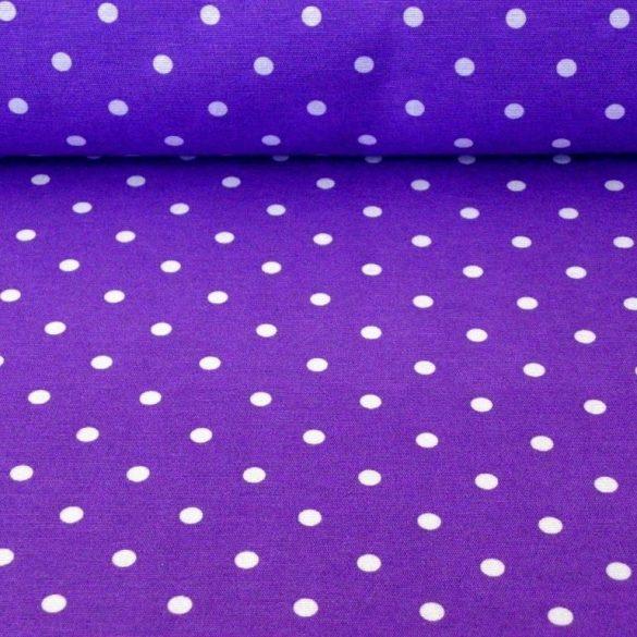 NOA, pöttyös mintás lakástextil dekorvászon, lila