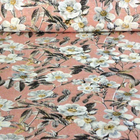 LEIRE, lazac, nagy virágos lakástextil dekorvászon