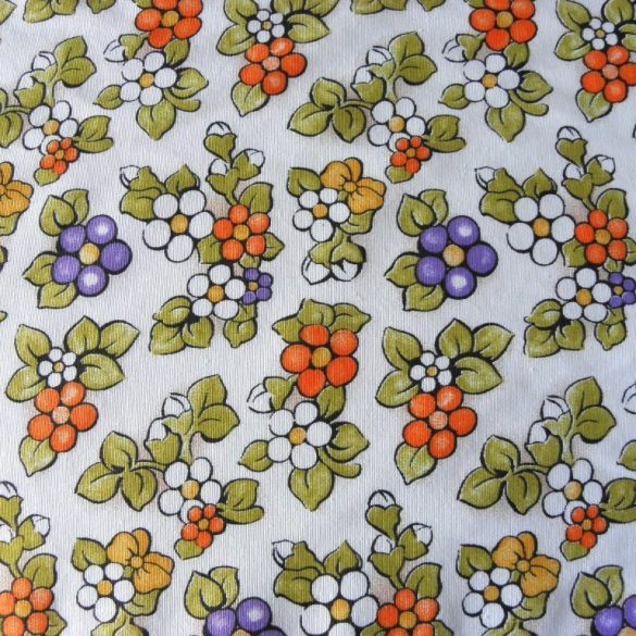 BOGI, narancs virág mintás lakástextil dekorvászon
