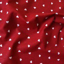 Spanyol lakástextil - szívecskés, piros